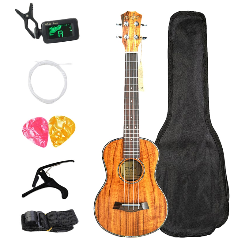 Concert Ukulele Kits 23 Inch Mahogany Uku 4 String Guitar With Bag Tuner Capo Strap Stings Picks For Beginner Musical Instrume
