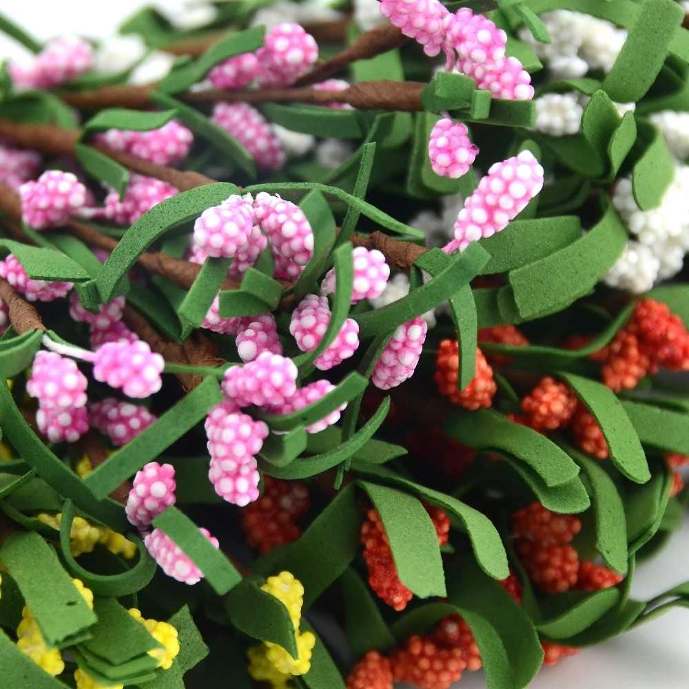 10 stks/partij Pe Mini Mulberry partij Kunstmatige Bloem Meeldraden draad steel/huwelijk bladeren Kleine meeldraden bruiloft doos decoratie Benodigdheden