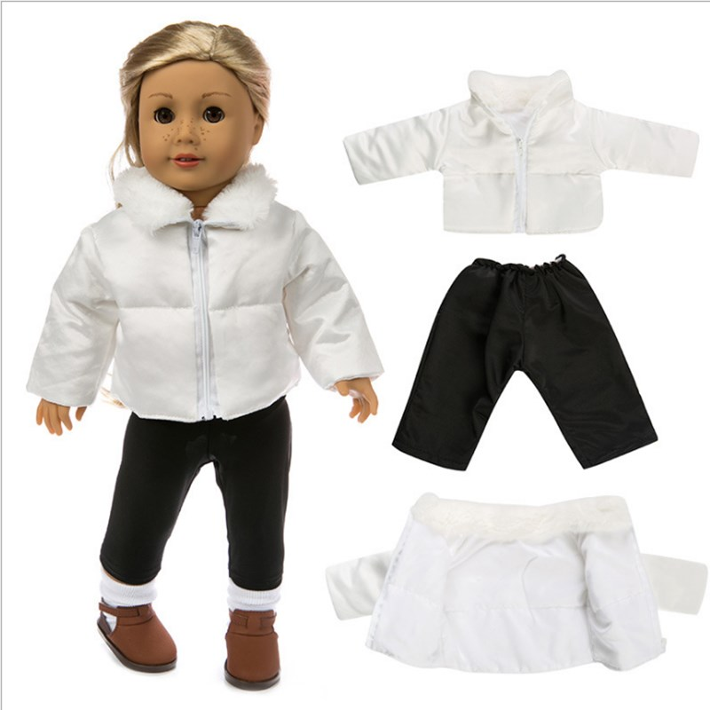 Doll Clothes Born Baby Fit 18 Inch 40-43cm Doll Down Jackets And Shoes Accessories For Baby Birthday Festival Gift