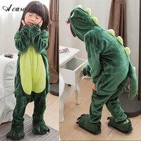 Cute Cartoon Animal Children S Conjoined Pajamas 2018 Winter Kids Warm Flannel Siamese Housecoat Dinosaurs Pegasus
