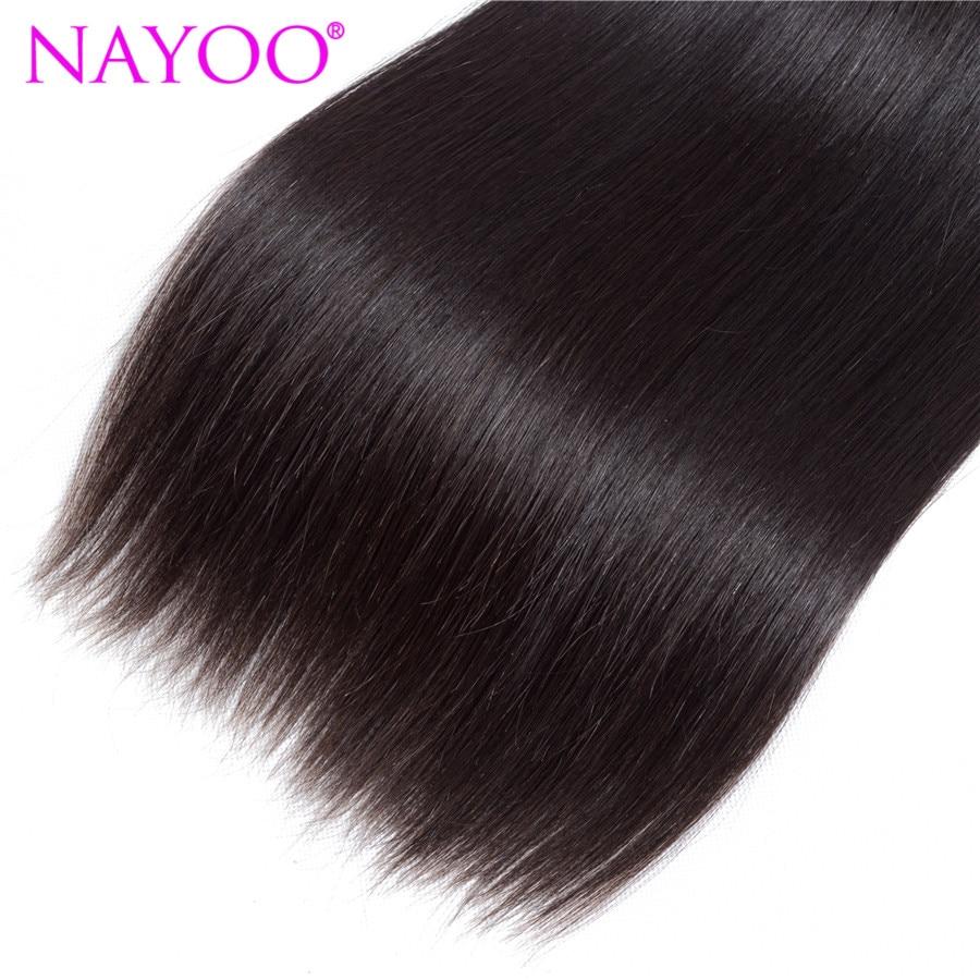 NAYOO brasilianska Remy Hair 8-26 tums 100% brasilianska - Mänskligt hår (svart) - Foto 5