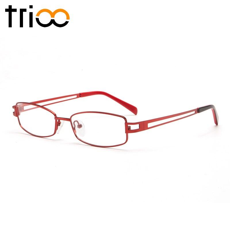 Trioo Mode Brille Klar Rezept Oval Rot Weibliche Progressive Hohl Dioptrien Frauen C4 Brillen Multifokale Lesebrille RxwnRqaZrP