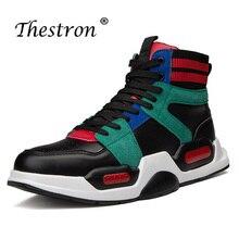 Youth Fashion Mens Shoes High Top Male Flats Hard-Wearing Wearable Men Original Casual Black White Walking