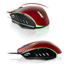 AJ10 Wired Backlit USB 6 Button Ergonomic Optical Gaming Mouse Gamer 1600DPI Mice For PC Laptop Tablet Computer Desktop New 2017