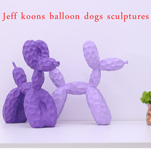 Nordic Jeff koons dazzle colour balloon dog sculpture art animal resin handicraft desk room decoration