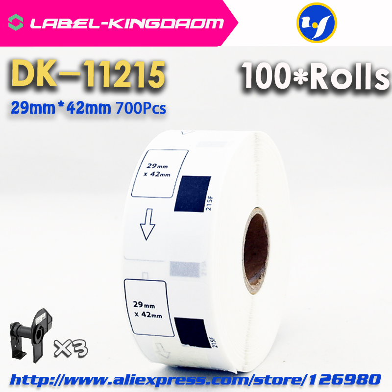 100 Refill Rolls Compatible DK 11215 Label 29mm 42mm 700Pcs Compatible for Brother Label Printer QL
