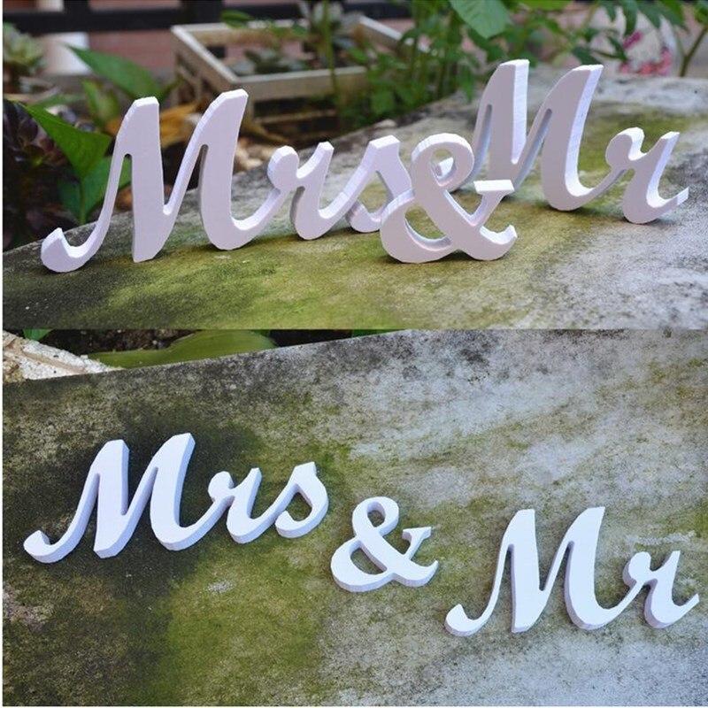 Pan & paní svatební recepce pevné dřevěné podobné dopisy tabulka svatební znamení fotografie rekvizity dekorace