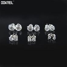 Set de 6 pares de pendientes de circonita cúbica de corte redondo con incrustaciones de diamantes de imitación, pendientes Vintage de lujo 2019