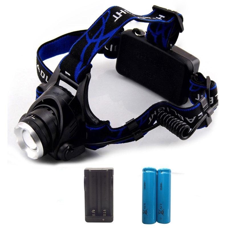 Xml T6 Led Headlamp Flashlight Head Light torch Lamp Linterna Frontal Rechargeable headlight 2000 Lumens Zoom 18650 Battery sitemap 40 xml