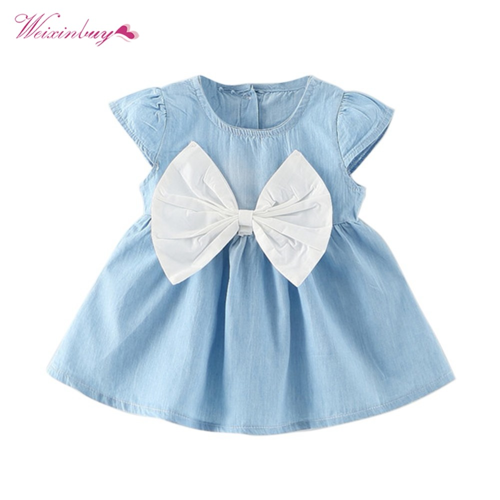 Kids, Dress, Style, Short, Fashion, Bow-knot