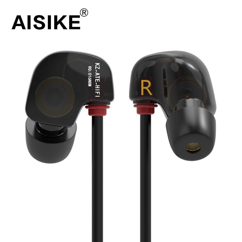 New Original KZ ATE S In Ear Earphones HIFI KZ ATE-S Stereo Sport Earphone Super Bass Noise Canceling Hifi Earbuds With Mic