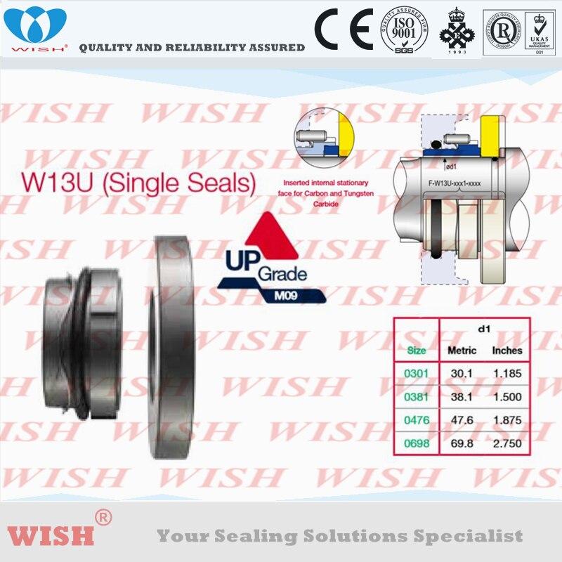 Joint unique (siège + face intérieure) Waukesha universel l, WRU (TRA10), remplacer par joint mécanique AES W13U, joint de pompe, stock