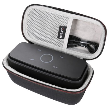 LTGEM Case for DOSS Touch Wireless Bluetooth V4.0 Portable Speaker with HD Sound and Bass-Fits Cable-Black