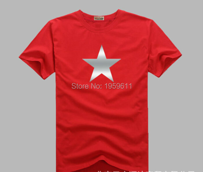 Superhero Captain America Silver Plating Starshirt  Cotton Casual t shirt teenagers men tops tee
