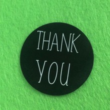 Round thank you sticker label Custom design logo sticker paper print custom made sticker lable moq 1000pcs