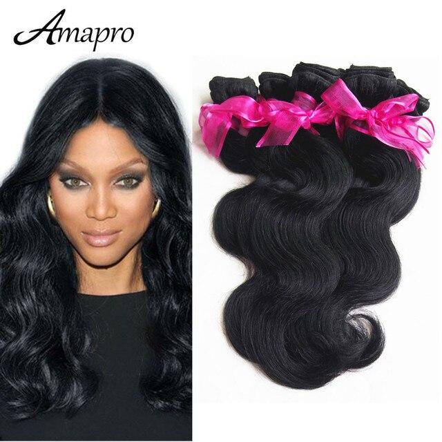 Amapro Hair Products 10 Bundleslot Malaysian Body Wave Remy Virgin
