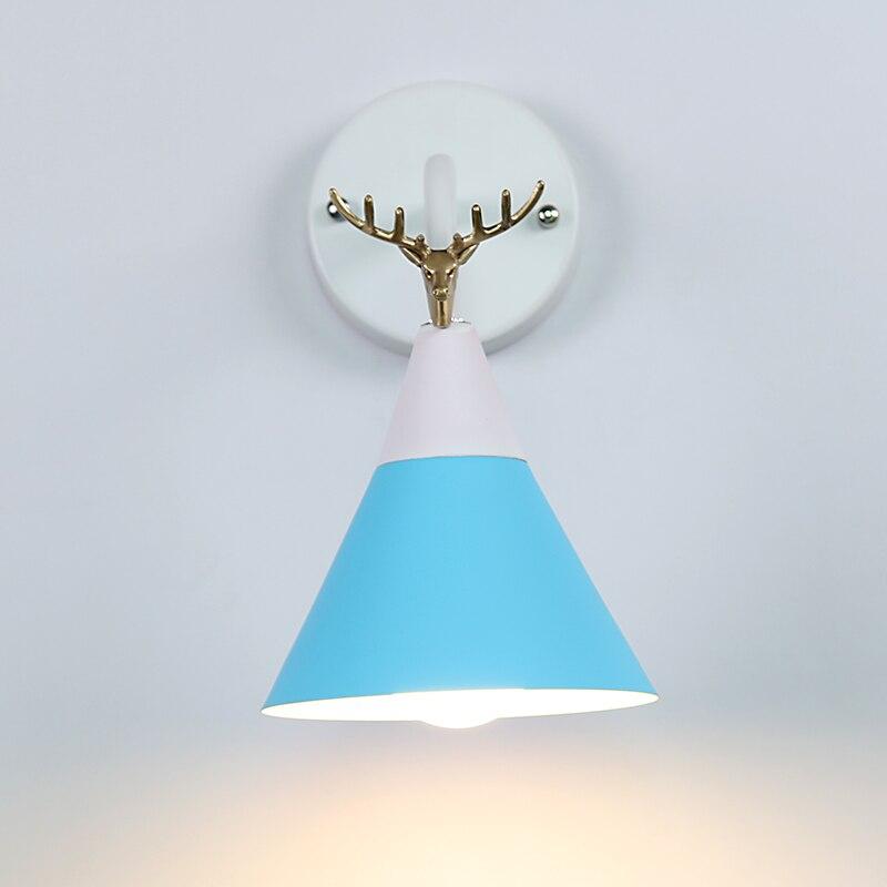 New Nordic бра ночники Спальня современной гостиной дорожки лестницы простой железный ремень настенный светильник светодиодный светильник