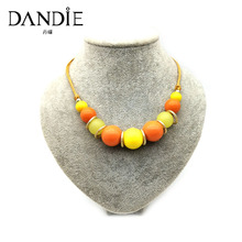 Dandie Short New Arrival Acrylic Bead Necklace, WIth Gold Spacer Jewelry, Muti-color Available