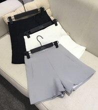 Летом женские шифон шорты тонкий высокая талия а . а . свободно шорты свободного покроя костюмы материал шорты сплошной цвет широкую ногу шорты женский