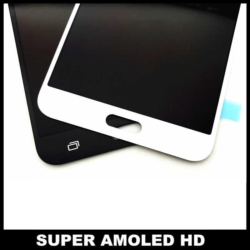 AMOLED แอลซีดีสำหรับ Samsung Galaxy J7 2016 J710 J710FN J710F J710M จอแสดงผล LCD หน้าจอสัมผัส Digitizer ปรับความสว่าง