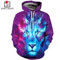 John S Bakery Brand 3D Animal Print Hoodies Men Women Sweatshirt Hooded Clothing Hoody Autumn Winter