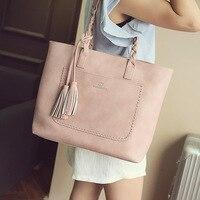 2018 New Ladies Vintage Casual Shopping Totes Bag Tassel Shoulder Messenger Bags Large Capacity Women Handbags