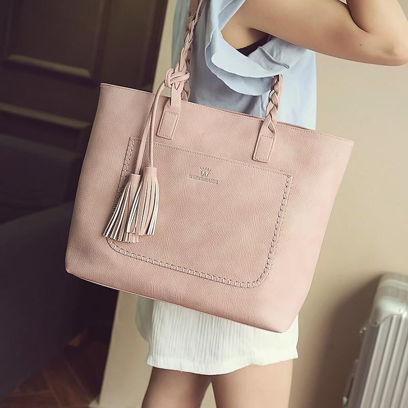 2019 New Ladies Vintage Casual Shopping Totes Bag Tassel Shoulder Messenger Bags Large Capacity Women Handbags