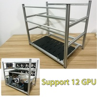 New Open Air Mining Rig Non Stackable Frame Case For 12 GPU ETH BTC Ethereum New