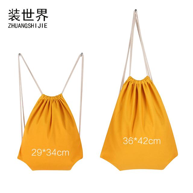 Custom Logo Print Children Mom Girls Boys School Backpack Travel Softback Shopping Bag Cotton Drawstring Bag Christmas Gift