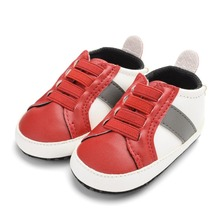 Baby Shoes Newborn PU Leather Face Color Elastic Band Casual