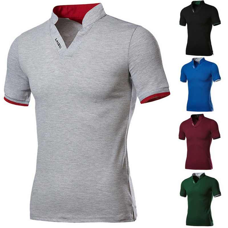 2019 Plus size 4XL 5XL Men Polo Shirt Fashion Brand Solid Color Polo shirt Summer Men Casual Short Sleeve Slim  Polo Shirt