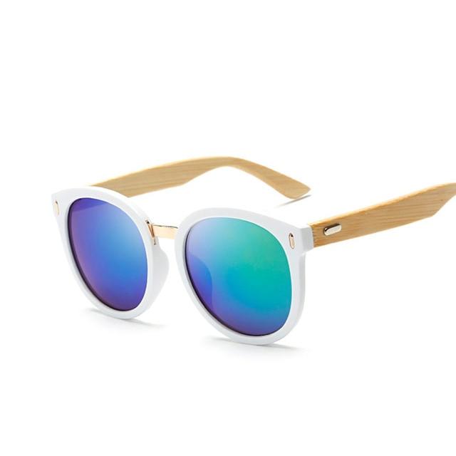 2016 New  Handmade Bamboo Sunglasses Leg Fashion Wood Sun Glasses Cool Eyewear Retro Vintage Eyeglasses Women's high quality