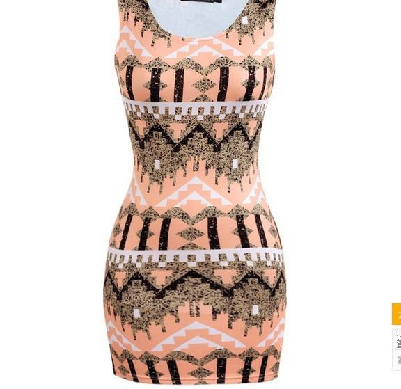 2018ファッション女性新しいドレス女性oネックドレス斜視夏の服夏ドレスAW7504