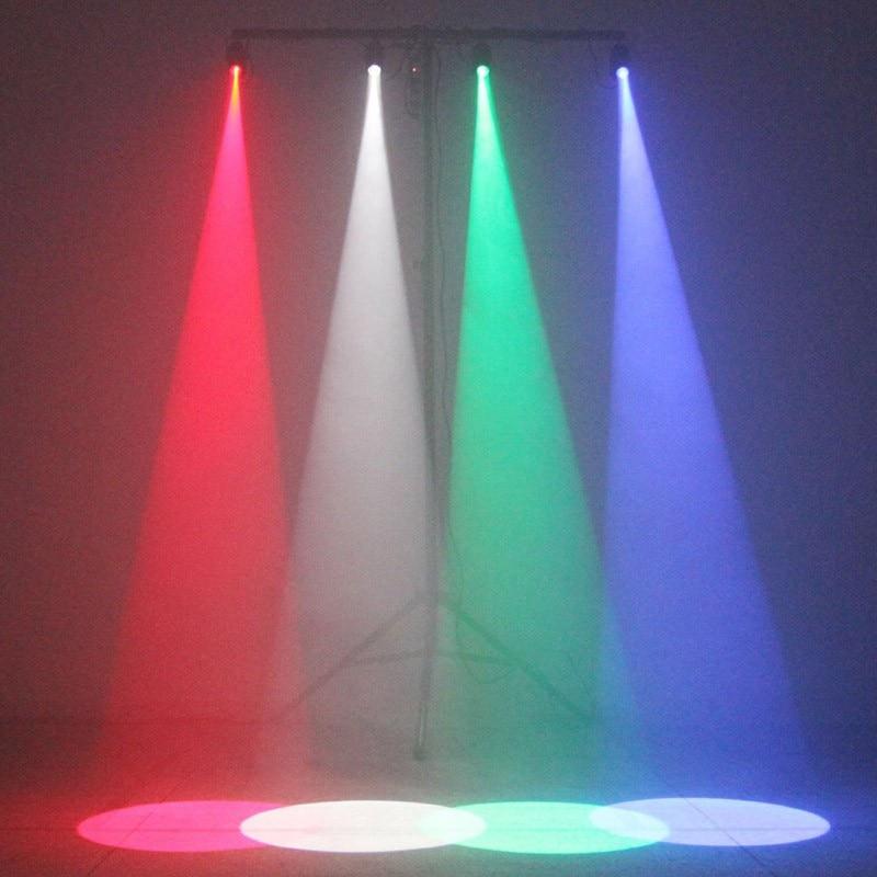 ZjRight 5W svart cylindrisk stråle Stage Light RGBWYP 6 färg LED - Kommersiell belysning - Foto 5