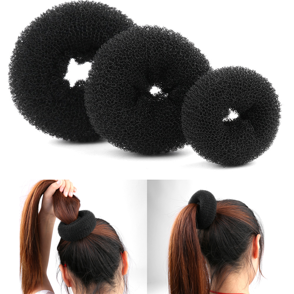 1/3pc Fashionable Elegant  For Girls Magic Shaper Donut Hair Ring Bun Fashion Intimate Hair Styling Tool Hot Sale