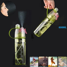 600ml Creative Plastic Spray Water Bottle For Outdoor Sports