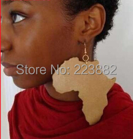 Free shipping 6pairslot 2017 Hot Sale Good Wood Africa Map