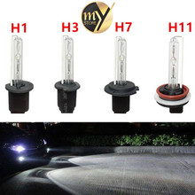 2 adet otomobil hid işıklar farlar lens bi xenon h1 h3 h7 h8 h9 h11 12 v 35 w 6000 K xenon kiti ampul lambası araba styling Farlar