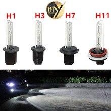 2 pz auto luci hid fari lente bixenon h1 h3 h7 h8 h9 h11 12 v 35 w 6000 k kit xenon luce della lampada della lampadina auto styling Fari Fari