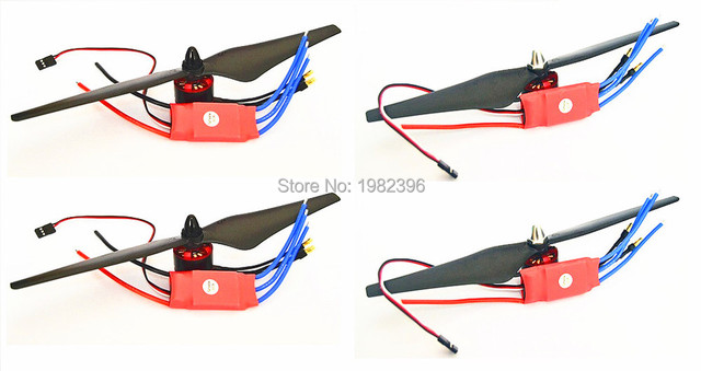 4 pcs 30A Simonk ESC + 4pcs 2212 Do Motor 920KV Brushless para F450 F550 X525 Quadcopter S500 S550 Multicopter
