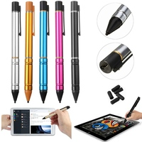 YUNAI Universal Aluminum Alloy 2 3mm Active Capacitance Stylus Pen For IPAD New Tablet Touch Screen
