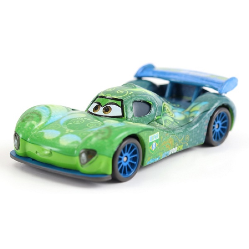 Cars Disney Pixar Cars 2 Carla Veloso Metal Diecast Lightning McQueen Mater Jackson Storm Ramirez Toy Car 1:55 Loose Brand Toys