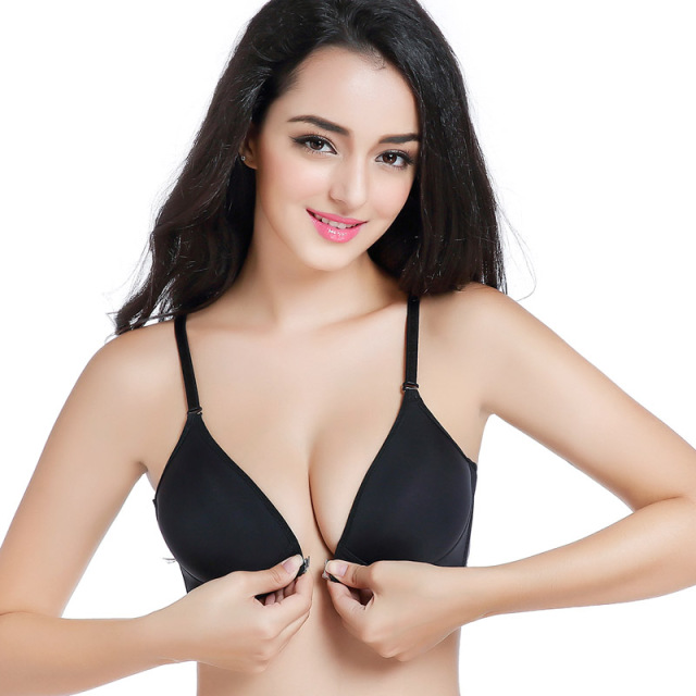 a0affeb987667 US $2.98 11% OFF|Yenlice Sexy Women's Bra Super gathered Push Up Bra Front  Closure Racerback Seamless wireless Push Up Bras Top for Most women -in ...