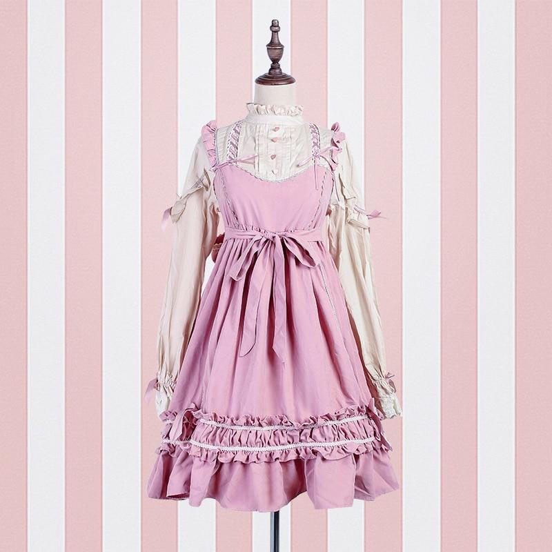 Japanese soft sister Dresses Cosplay Costumes Girl beautiful princess dress Korean version lolita Skirts kimono Lolita dress