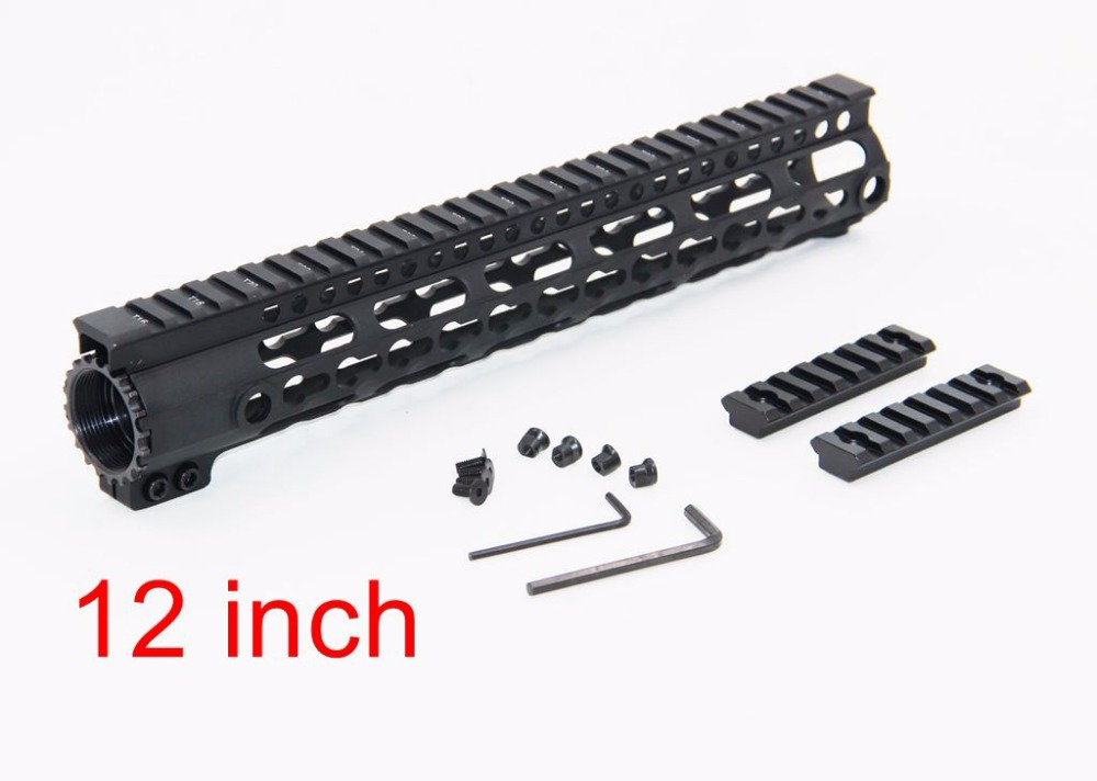 12 Durable mil-spec style matte finish lightweight aluminium handguard picatinny quad hunting shooting rail for AEG M4 M16 AR15 picatinny rail ras mre 12 inch handguard rail for m4 m16 ar15 aeg hunting