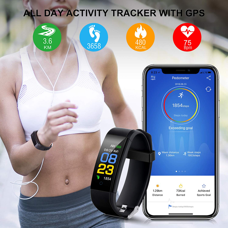 Image 3 - Smart Health Bracelet Blood Pressure Measurement Heart Rate Smart Band Fitness Tracker for iPhone Huawei pk fitbits mi band 3 m4-in Smart Wristbands from Consumer Electronics