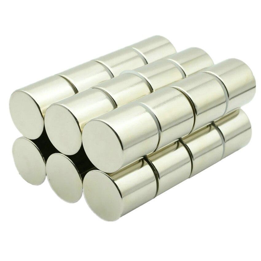 Disque magnétique N42 NdFeB Dia. Aimants permanents de laboratoire de terre Rare de néodyme de cylindre de tige magnétique forte de 27x25mm 2-20 pièces