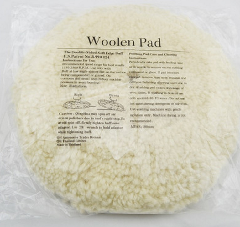 150mm  woolen pad  waxing pad for car polisher  цены