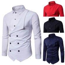 SHUJIN Fashion Personality Men's Casual Slim Long-sleeved So