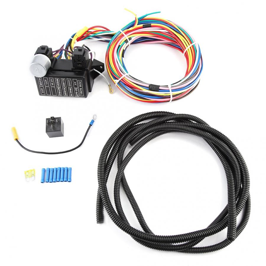 12V Car Universal Circuit Wiring Harness Car Complete Circuit Wire Kit car socket araba aksesuar12V Car Universal Circuit Wiring Harness Car Complete Circuit Wire Kit car socket araba aksesuar